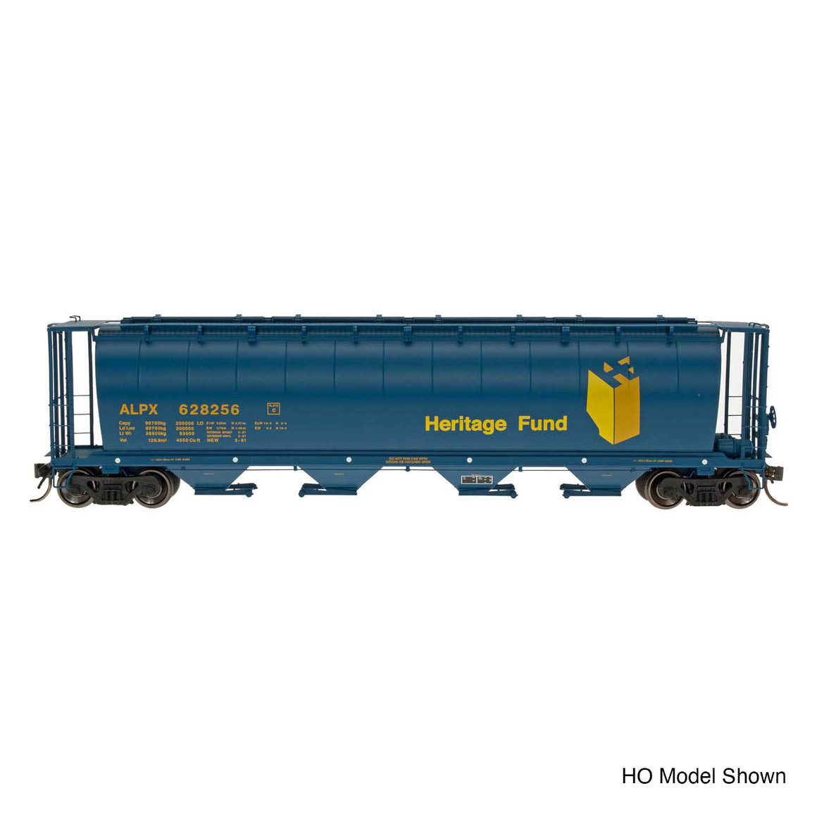 N Scale: Cylindrical Covered Hopper - Trough Hatch - Alberta Heritage