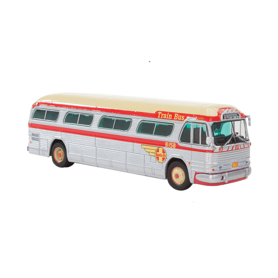 HO Scale: 1958 GM PD4104 Bus - Santa Fe