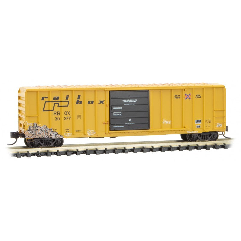 N Scale: 50' Rib Side Box Car - RBOX 'National Tattoo Day'