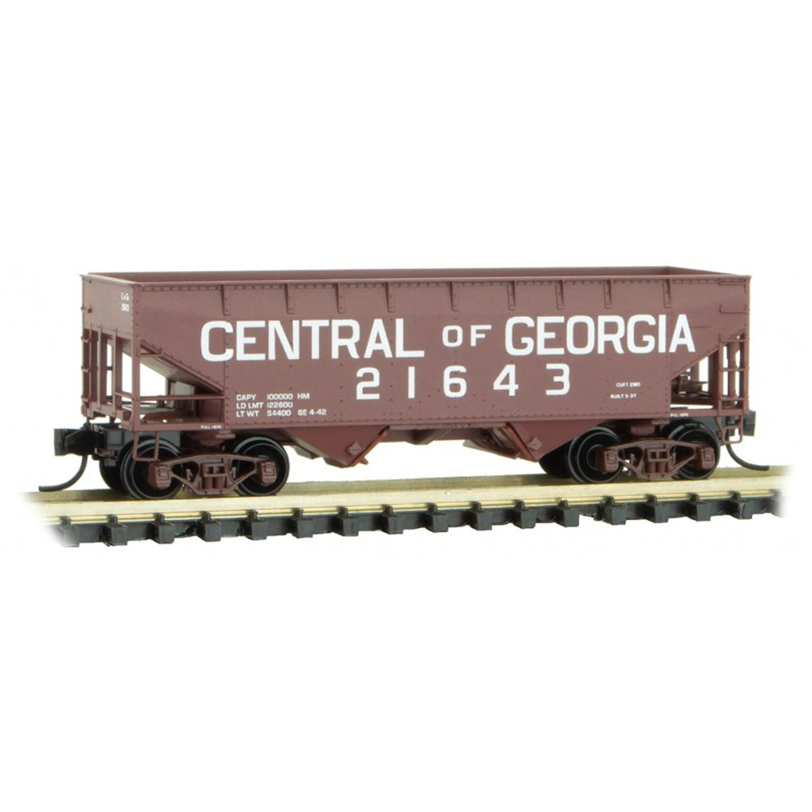 N Scale: 33' Two-bay Open Hopper - Central of Georgia