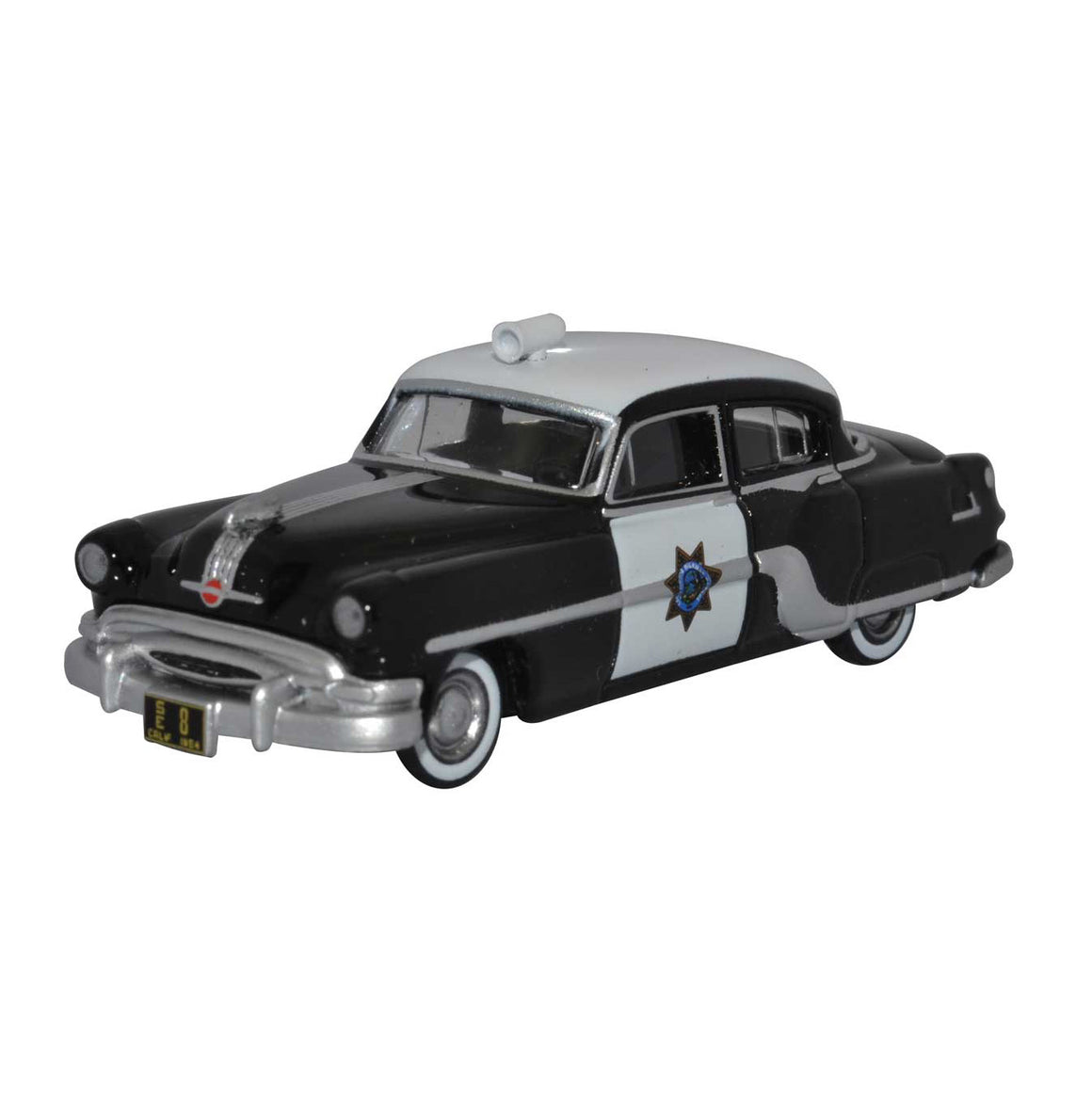 HO Scale: 1954 Pontiac Chieftain 4-Door Sedan - California Highway Patrol