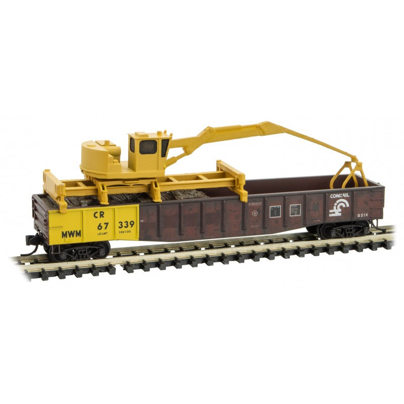 N Scale: Conrail Tie Loader - 3-Pack