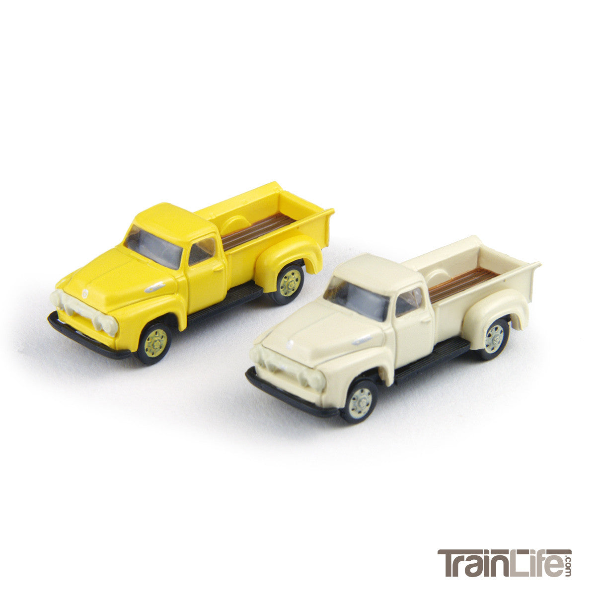 N Scale 1954 Ford F250 Pickup Truck Yellow White Trainlife F 250 Toy