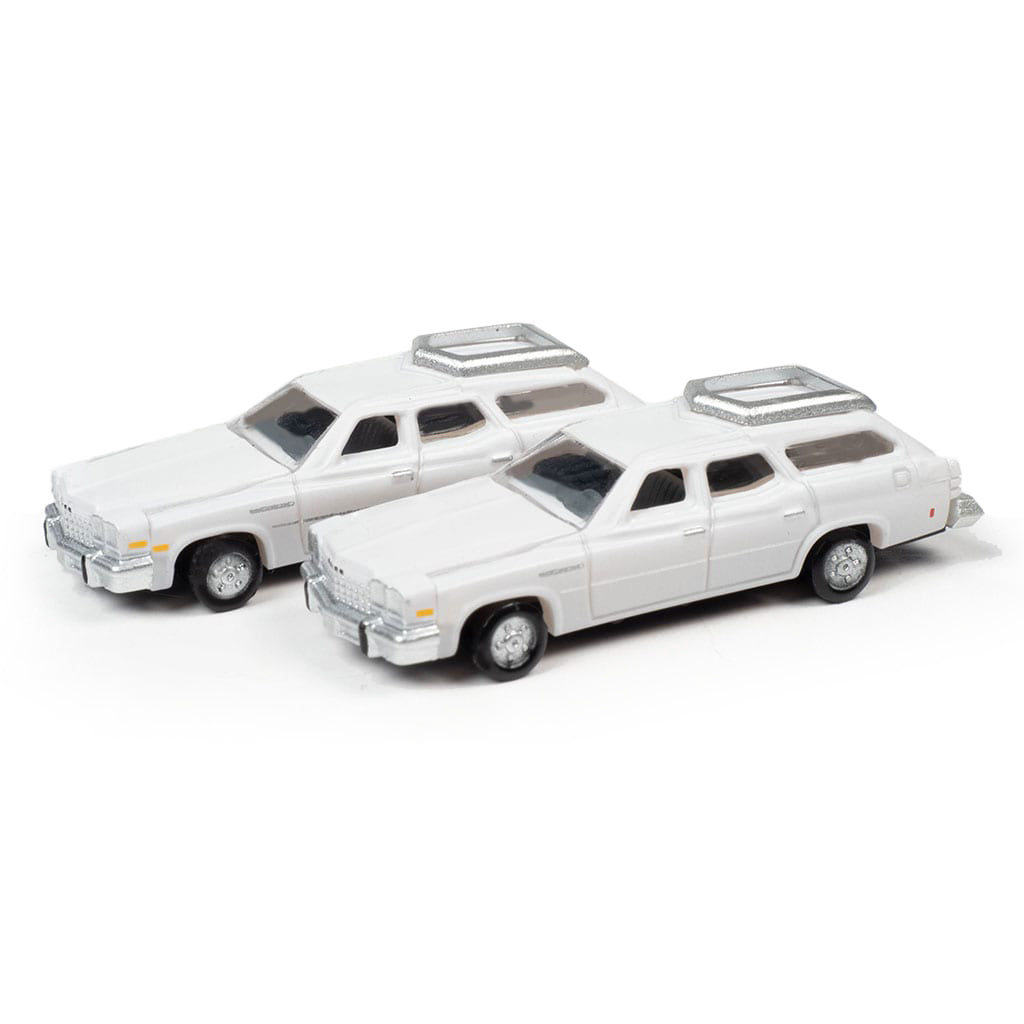 N Scale: 1976 Buick Estate Wagon - Liberty White - 2 Pack