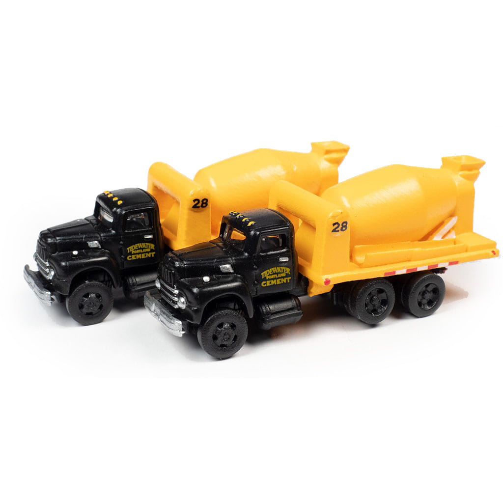 N Scale: 1954 International R-190 HD Concrete Truck - Tidewater Concrete - 2 Pack