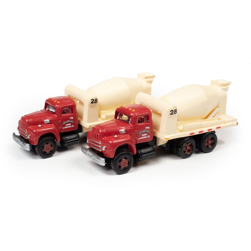 N Scale: 1954 International R-190 HD Concrete Truck - Morse Sand & Gravel - 2 Pack