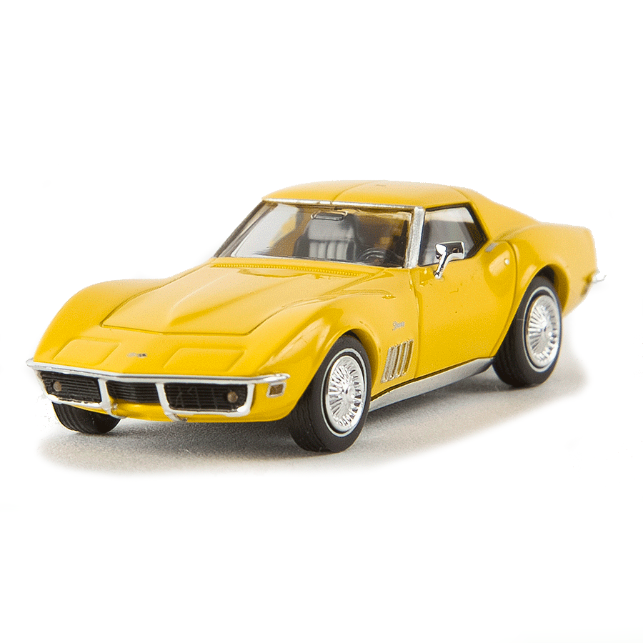 HO Scale: 1967-1973 Chevrolet Corvette C3 Convertible - Flax Seed Yellow