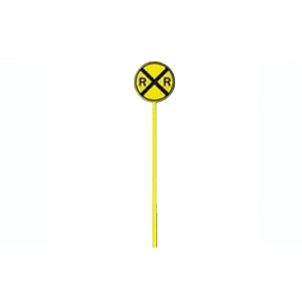 HO Scale: Crossing Warning Sign - 20-Pack