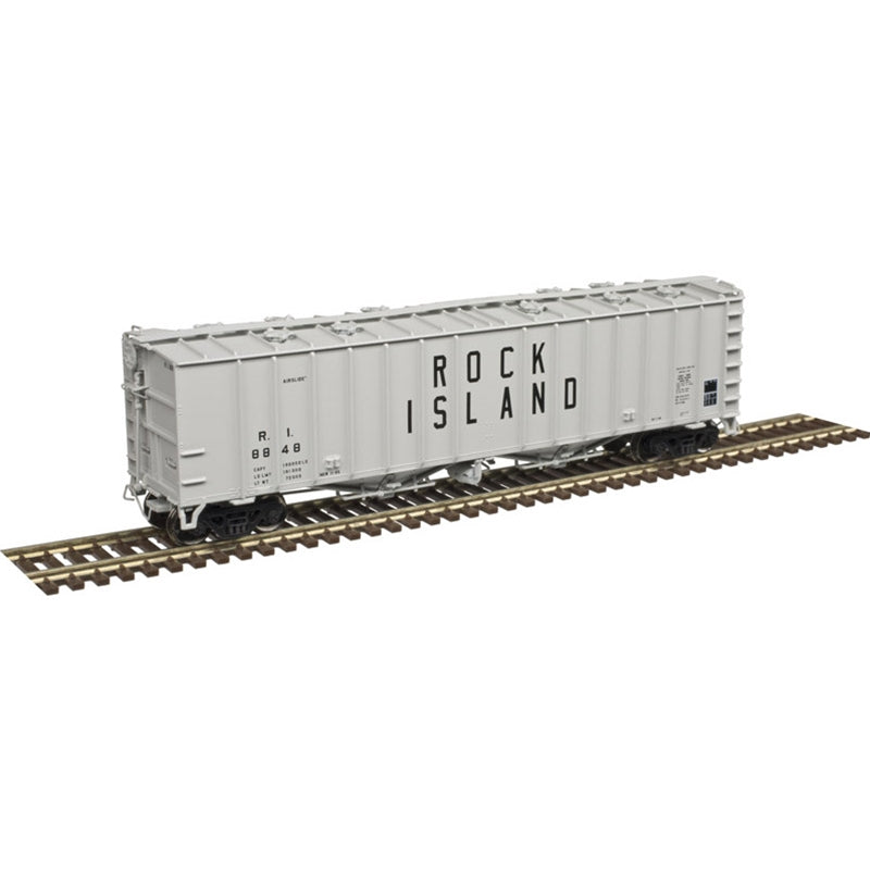 N Scale: 4180 Airslide Covered Hopper - Rock Island