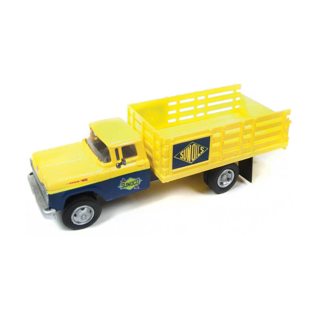 HO Scale: 1960 Ford F-500 Stakebed Delivery Truck - SUNOCO