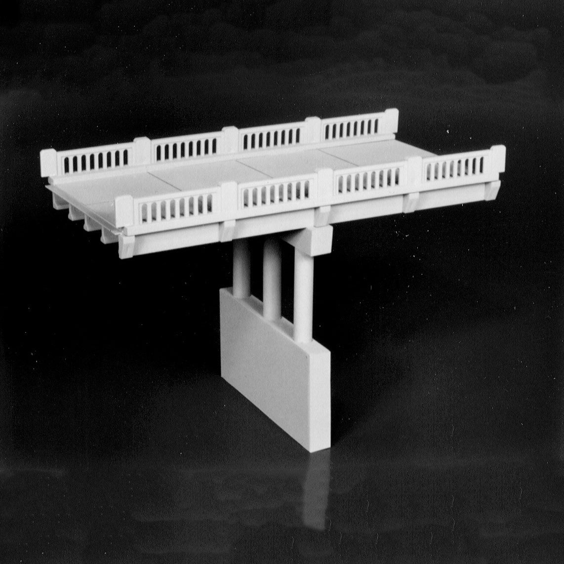 N Scale: Early Highway Overpass - Kit