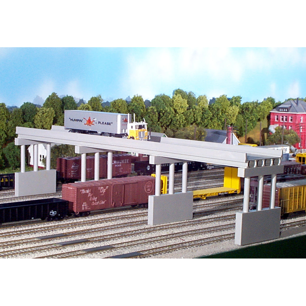 N Scale: Modern Highway Overpass - Kit