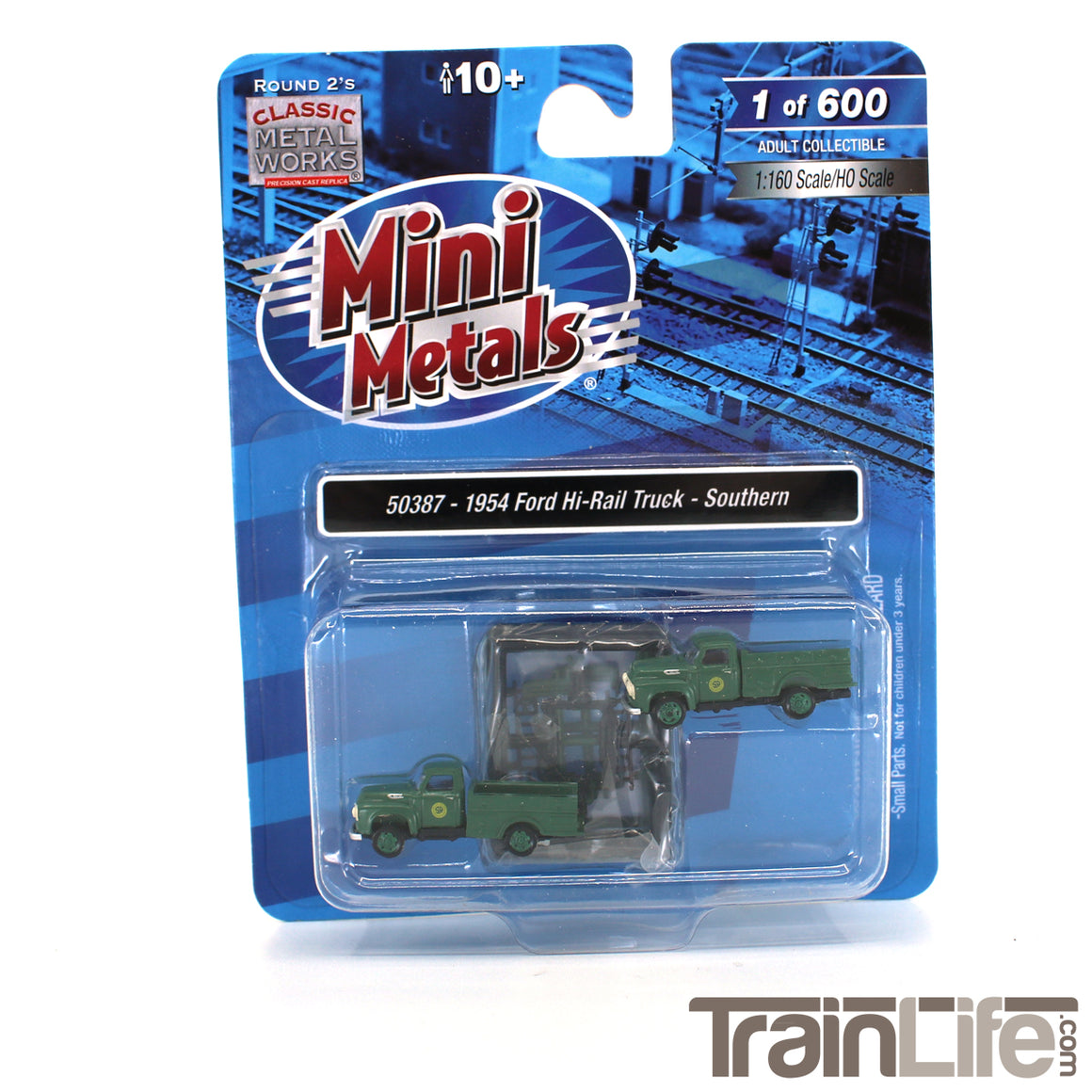 N Scale: 1954 Ford Hi-Rail Maintenance Truck - Southern - 2 Pack