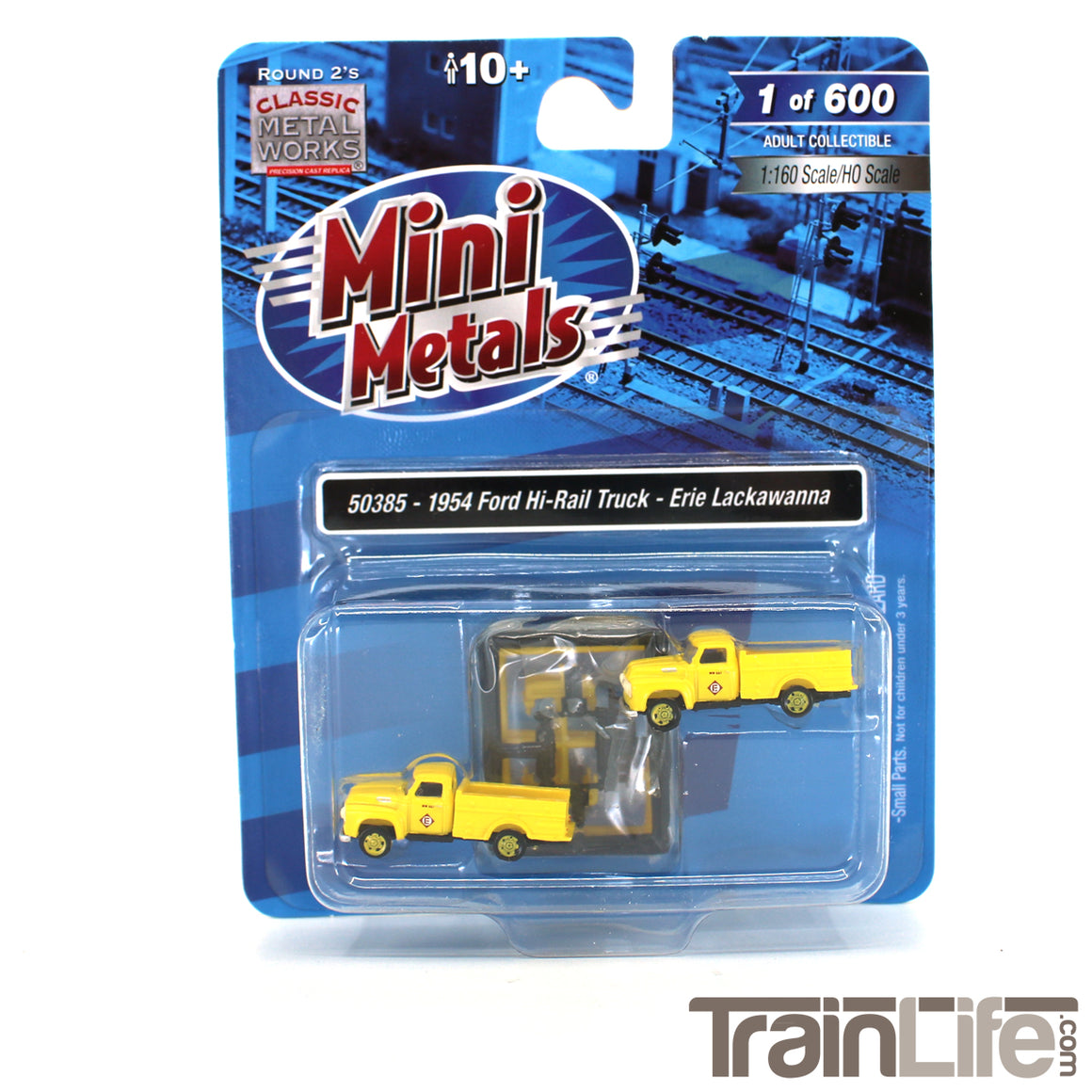 N Scale: 1954 Ford Hi-Rail Maintenance Truck - Erie Lackawanna - 2 Pack