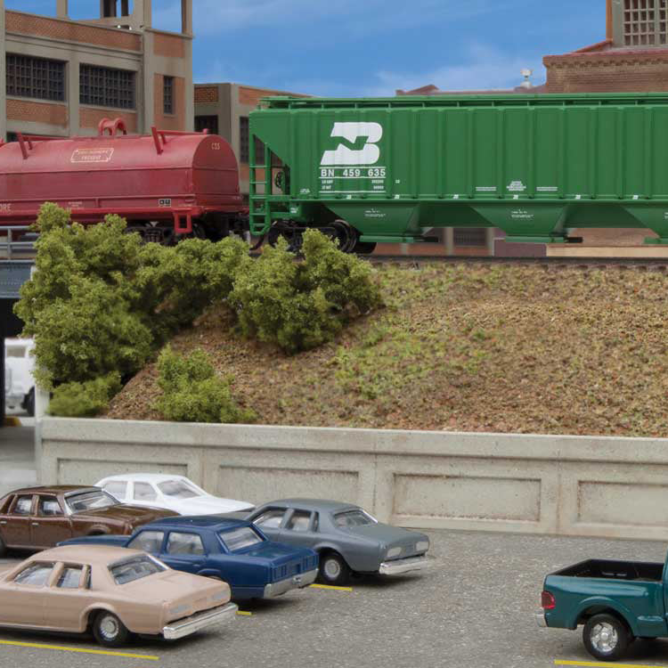 N Scale: Urban Retaining Walls