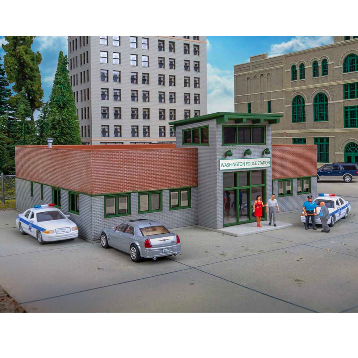HO Scale: Modern Police Station - Kit