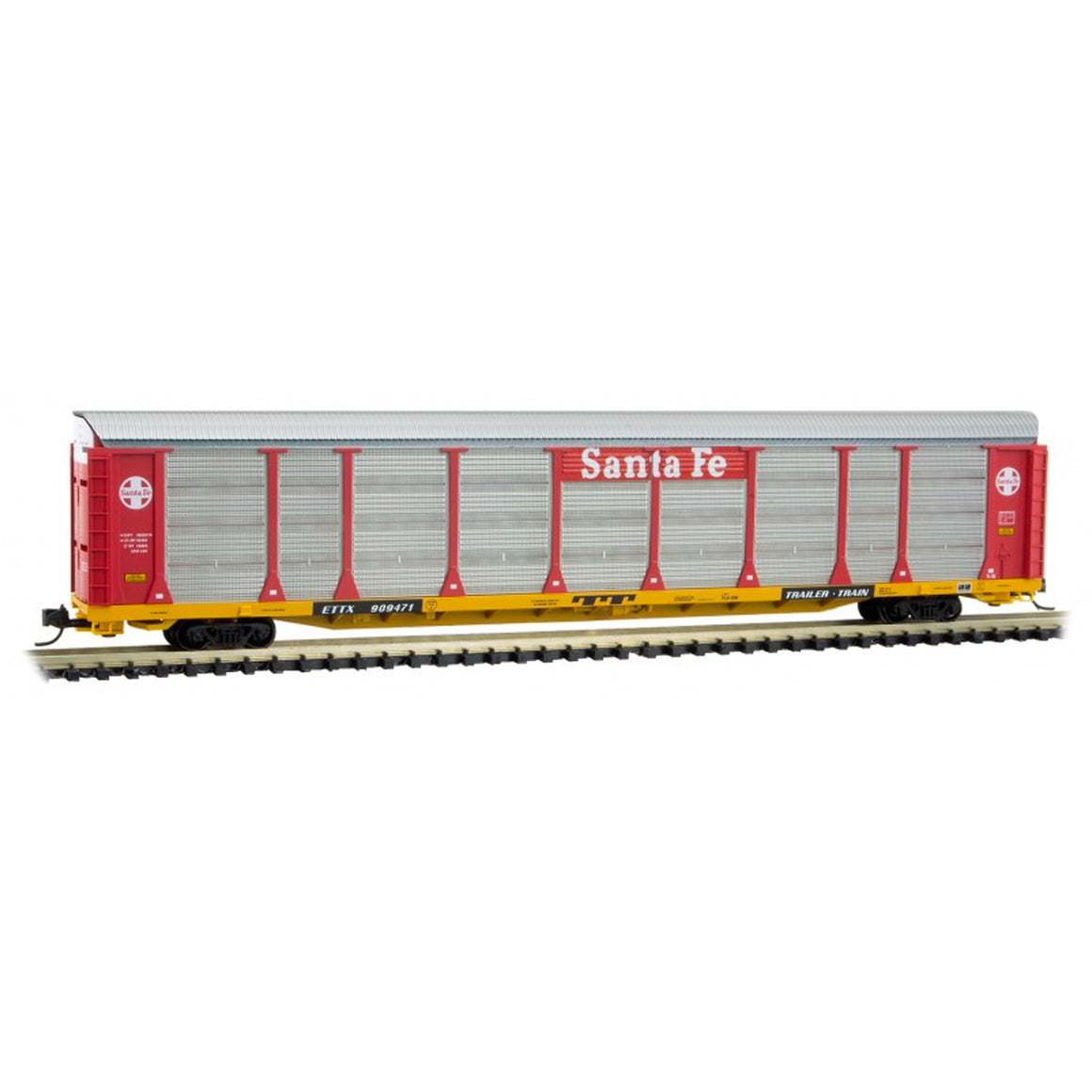N Scale: 89' Tri-Level Closed Autorack - ATSF