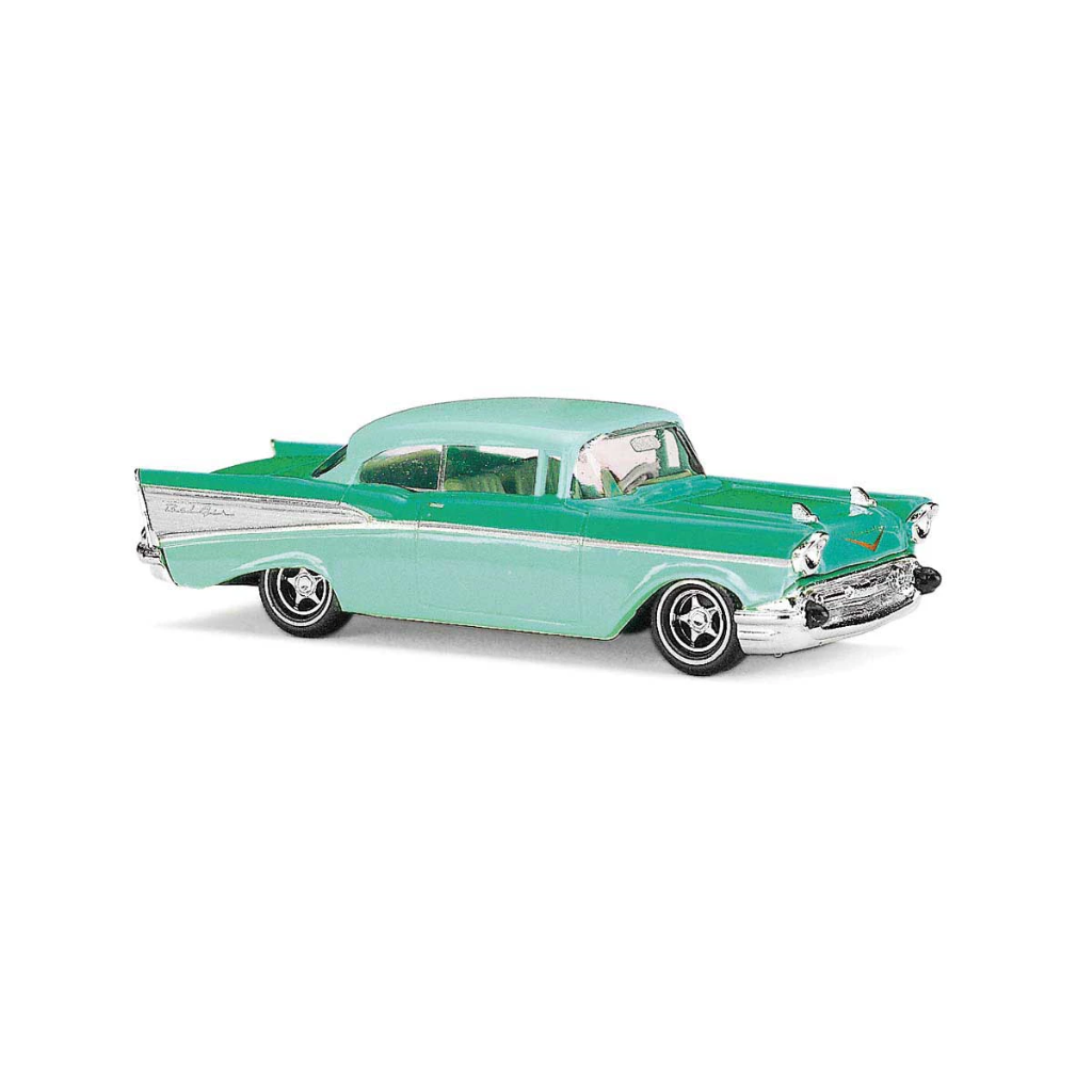 HO Scale: 1957 Chevrolet Bel Air Coupe - Green