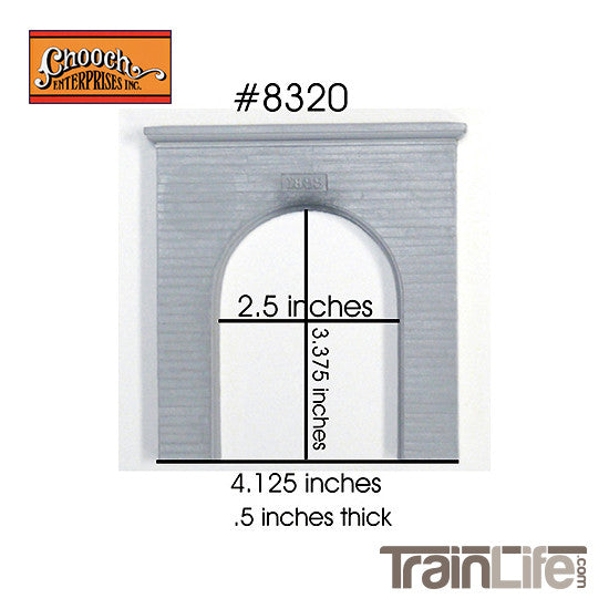 HO Scale: Single-Track Concrete Tunnel Portal