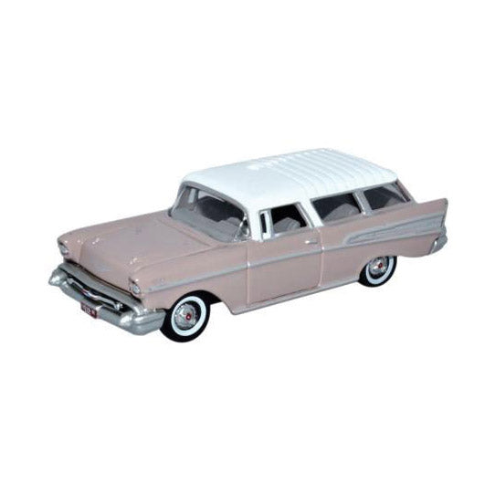 HO Scale: 1957 Chevrolet Nomad - Dusk Pearl, Imperial Ivory