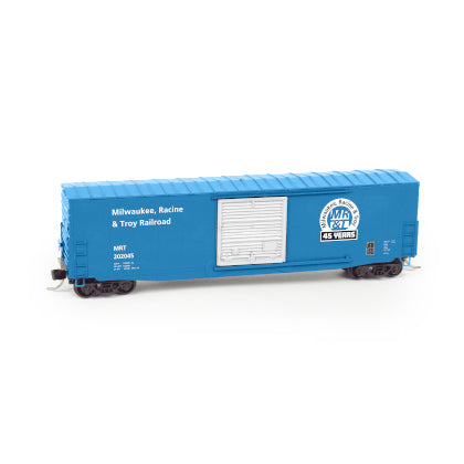 N Scale: 50 Foot Standard boxcar - Single Door - Milwaukee, Racine & Troy