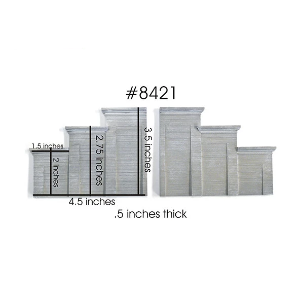 HO Scale: Concrete Stepped Tunnel Abutment - 2 Pack