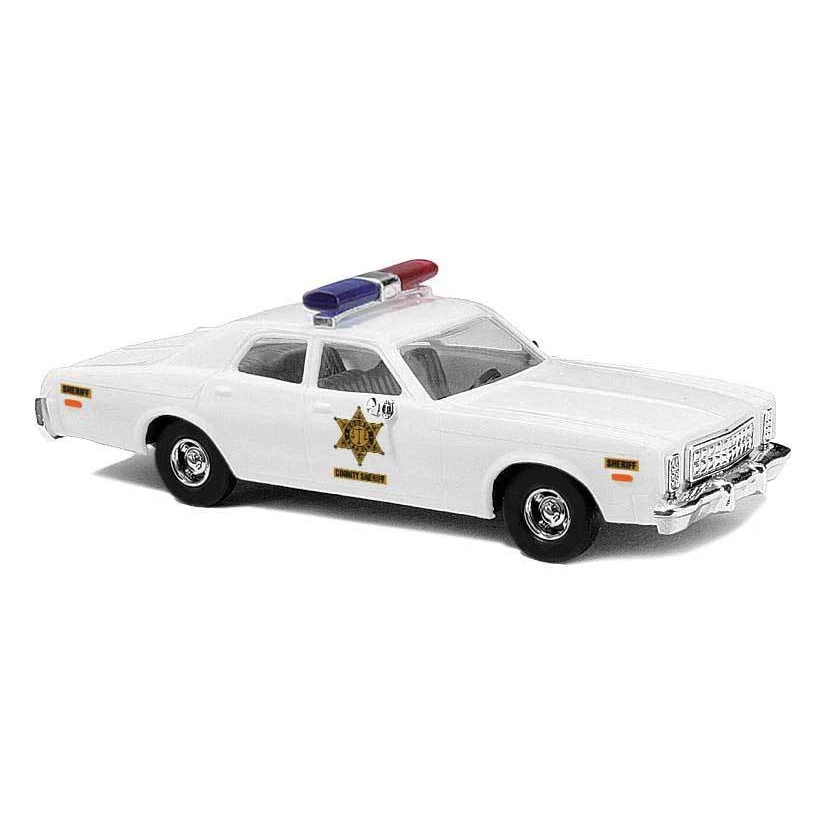 HO Scale: 1976 Plymouth Fury Sedan - Sheriff