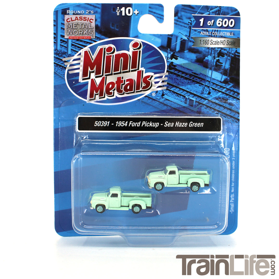 N Scale: 1954 Ford Pickup Truck - Sea Haze Green - 2 Pack