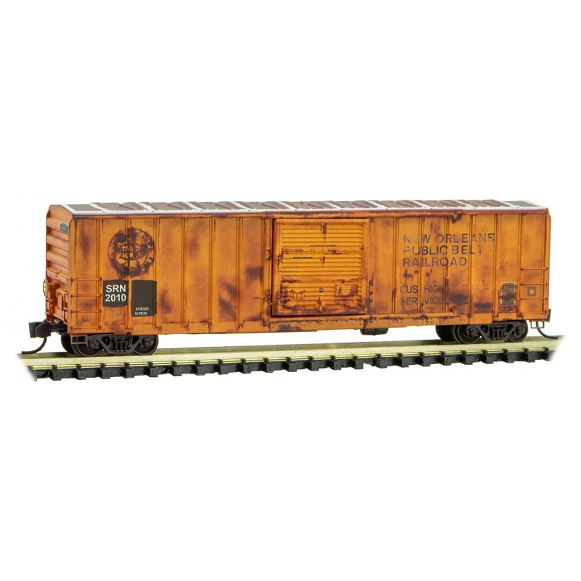 N Scale: 50' Rib Side Box Car - SRN - Weathered