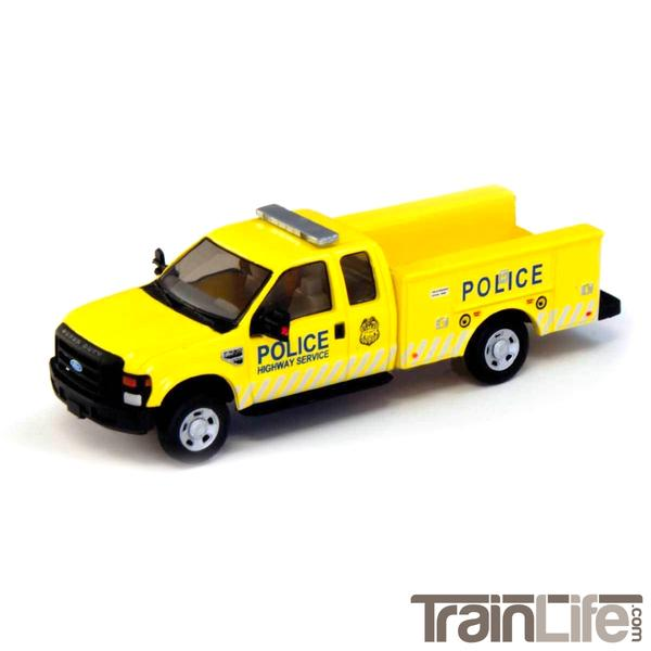 HO Scale: Lighted Ford F-350 -  Police Highway Service