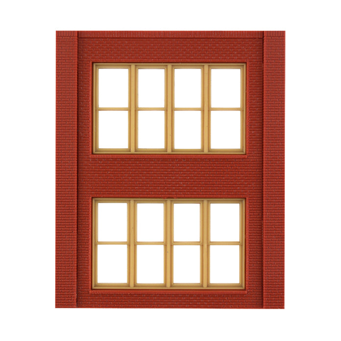 HO Scale: Modular Structures - Two-Story Victorian Window Panels - Kit