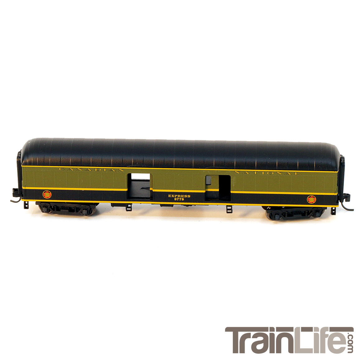 N Scale: 60-ft Arched Roof Baggage Express car - Canadian National