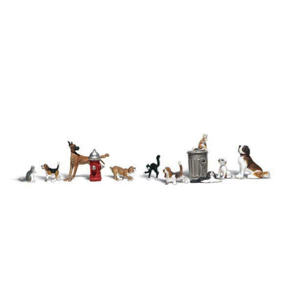 N Scale: Dogs & Cats