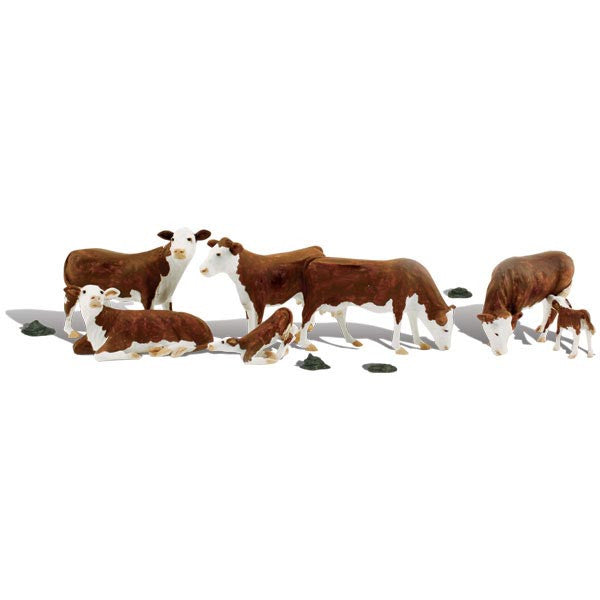 N Scale: Hereford Cows