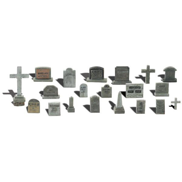 N Scale: Tombstones