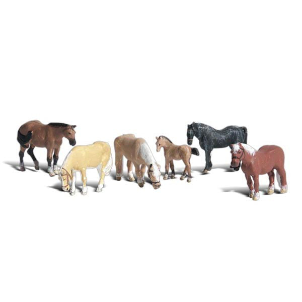 HO Scale: Farm Horses