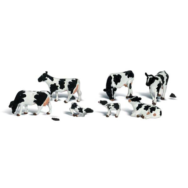 N Scale: Holstein Cows
