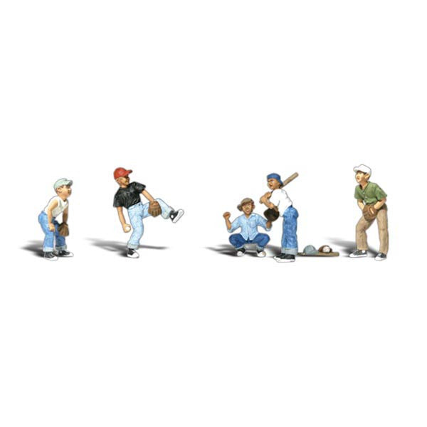 N Scale: Baseball Players I