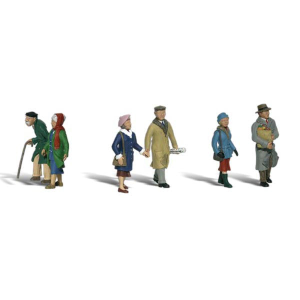 HO Scale: Couples in Coats