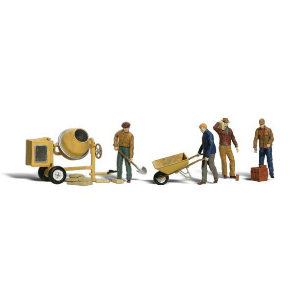 N Scale: Masonry Workers