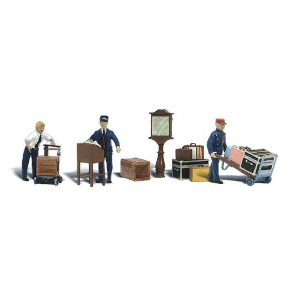 N Scale: Depot Workers & Accessories