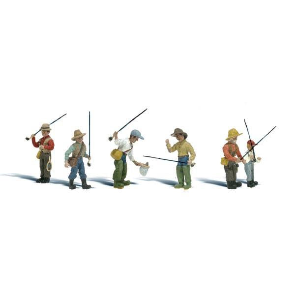 HO Scale: Fly Fishermen