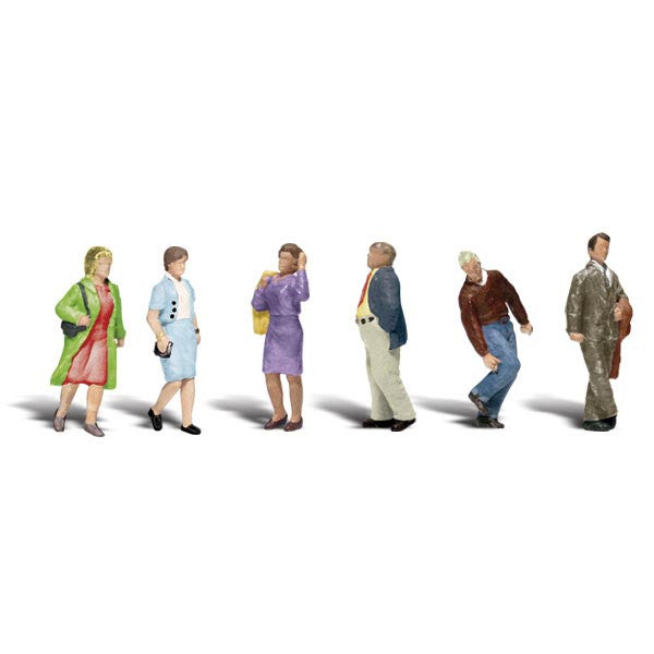 N Scale: People Walking