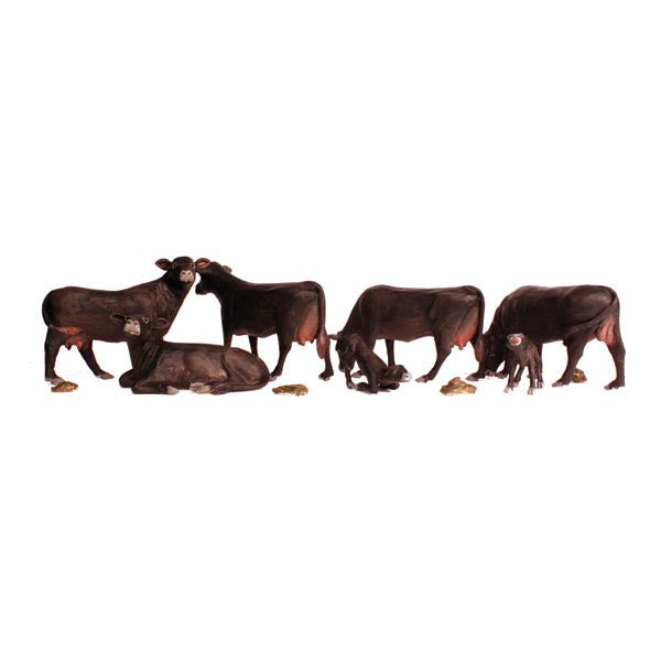 HO Scale: Black Angus Cows