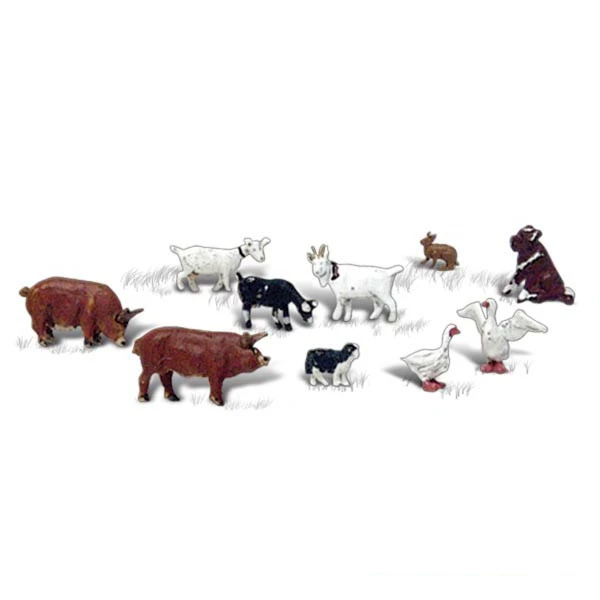 N Scale: Barnyard Animals