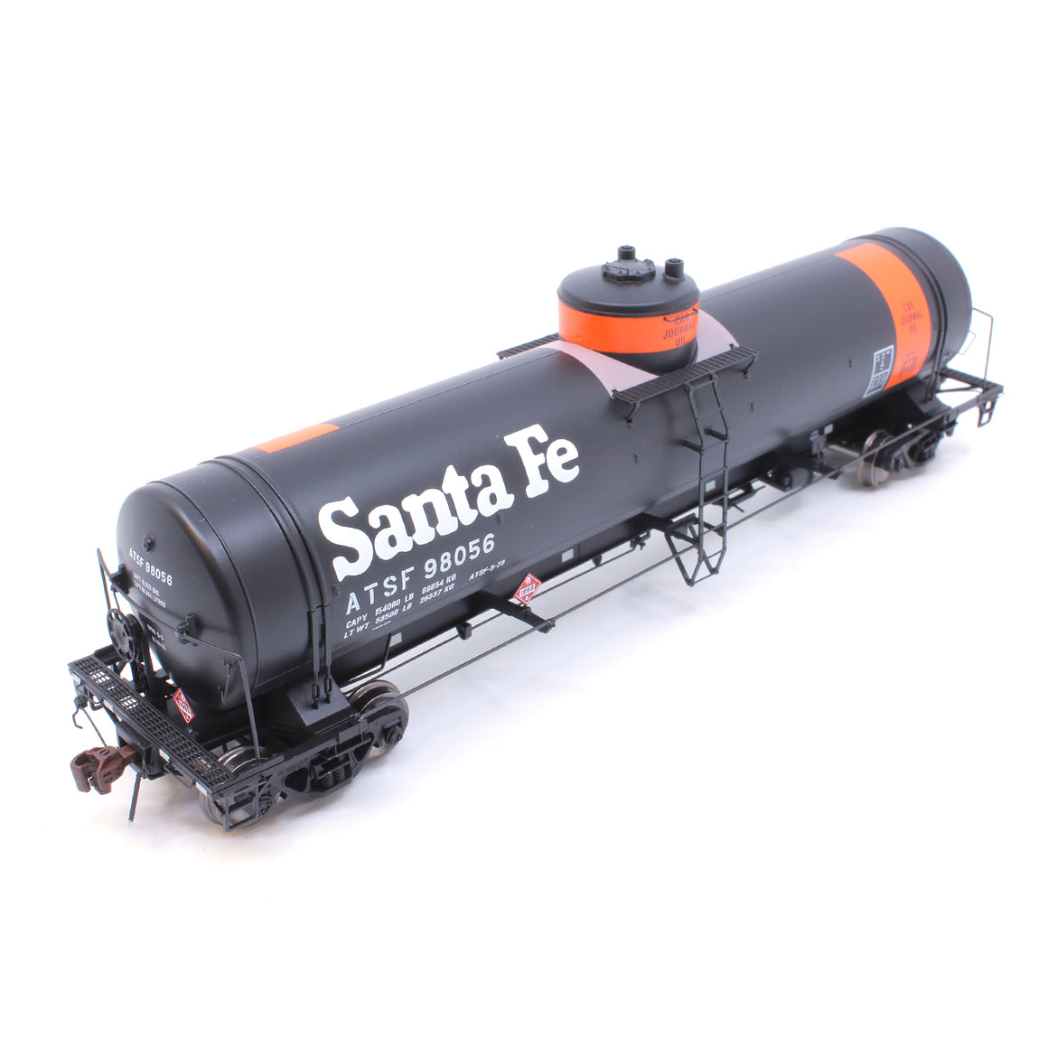 HO Scale: GATC Welded Tank Car - ATSF 'Car Journal Oil'