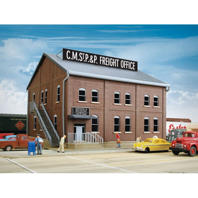 HO Scale: Brick Freight Office - Kit