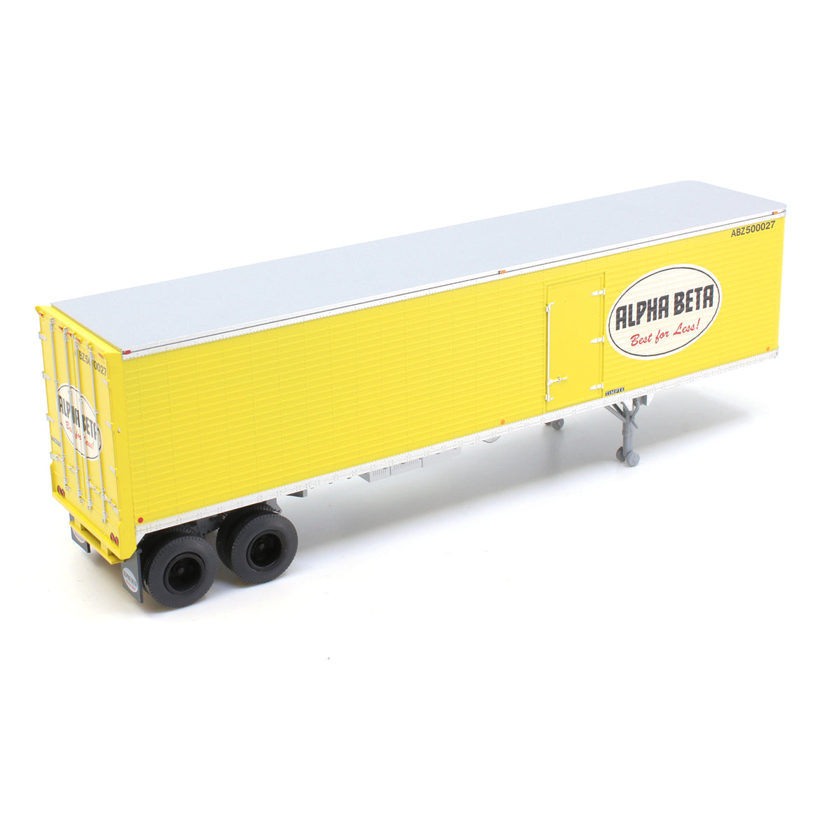 HO Scale: 40' Corrugated Semi Trailer - Alpha Beta