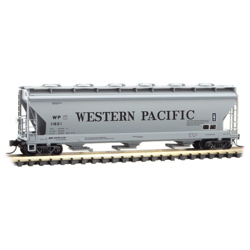N Scale: 3-Bay Covered Hopper - Western Pacific