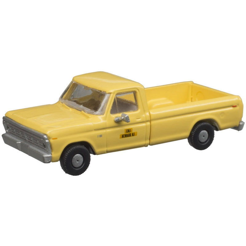 N Scale: 1973 Ford F-100 Pickup Truck - CNJ - 2 Pack